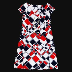 60's Red/Blue Mini Dress